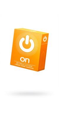 Презервативы ''ON)'' Stimulation №3 - с точками (ширина 54mm)